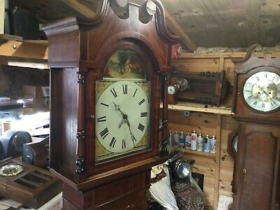 antique    Victorian 30 hour grandfather clock