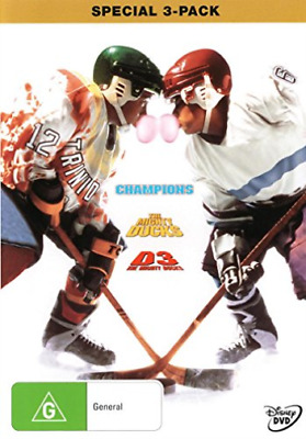 Movie-The Mighty Ducks Trilogy: Chanpions / D2: The Mighty Ducks / D3: T DVD NEW