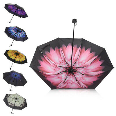 New Sun Rain Umbrella Double Layer Windproof Waterproof Inverted Lightweight