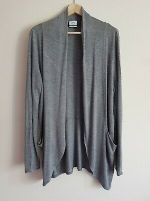Mamalicious maternity Size L long sleeve fine knitted open front cardigan - Grey
