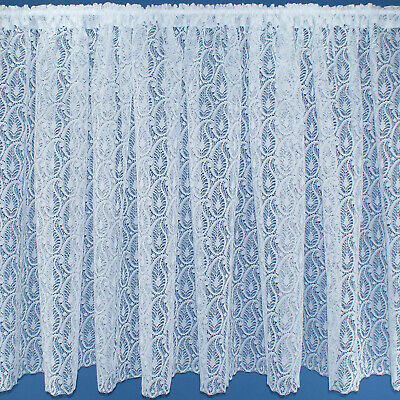 Ornamental Paisley Design White Lace Net Curtains - SOLD BY THE METRE - 11 Drops