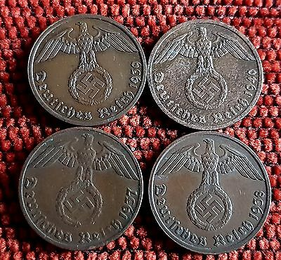Nazi Pfenning Coins Full Sets of Years Unique Vintage Listings