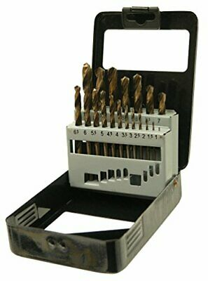 19pc HSS Metric Cobalt Drill Bit Set with Metal Storage Case