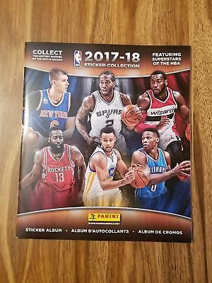 (1)  2017-2018 NBA PANINI -NBA Sticker Collection Albums New -Books