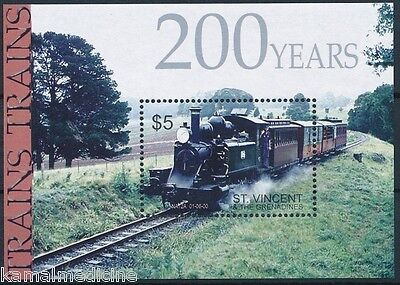 Trains, Railways, St-Vincent 2004 MNH SS  (E17)