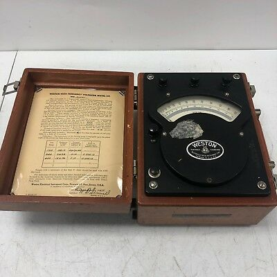 Vintage Weston High Frequency Voltmeter Model 341 1957 Vintage