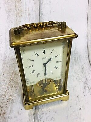 German AUGUST SCHATZ  8 Day no 59 Brass Carriage Clock ca.1965 Working