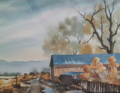 "Nice Rural Southwestern Landscape Watercolor Painting Signed ""D. Elliott Taos""!"