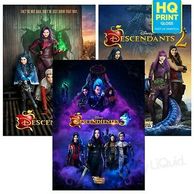 Descendants 1 2 3 Final Art Posters Disney Kenny Ortega Movie | A4 A3 A2 A1 |