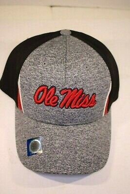 finest selection 45e3b 5b385 NCAA Ole Miss Rebels Hat Cap NWT Headwear Grey, Blue   Red - Captivating