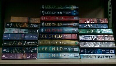 LEE CHILD: Job lot box collection of 23 adult fiction books