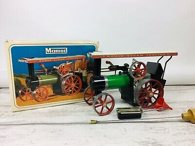 Vintage Mamod Steam Tractor TE1A Boxed With Accessories