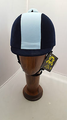 Double Horse Two Tone Hat Navy/Baby Blue