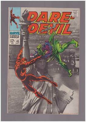 Daredevil # 45  The Jester - Liberty Showdown !  grade 9.0 scarce book !