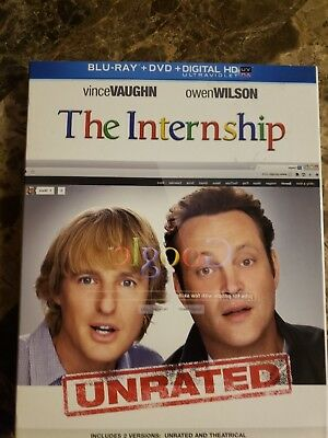 The Internship (Blu-ray, 2013) (UNRATED) (NO digital copy or DVD) Not a Rental