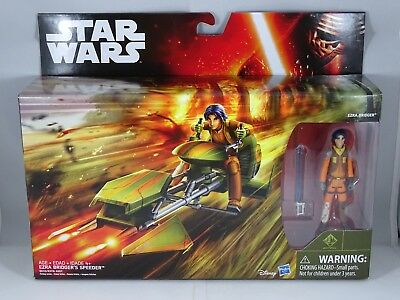 Star Wars - Hasbro - Ezra Bridger's Speeder - Rebels - Box Set New