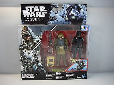 Star Wars-Hasbro- Rebel Commando Pao / Death Trooper -Rogue One- Blister Set New