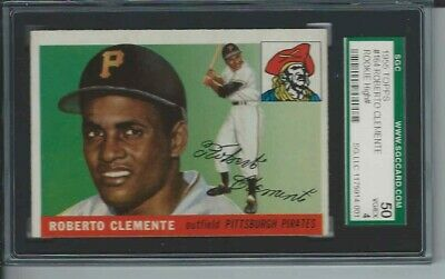 1955 Topps Baseball 164 Roberto Clemente Rookie Card