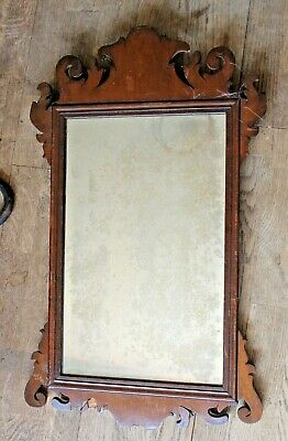 Antique Victorian Mirror, Decorative wood wall mirror