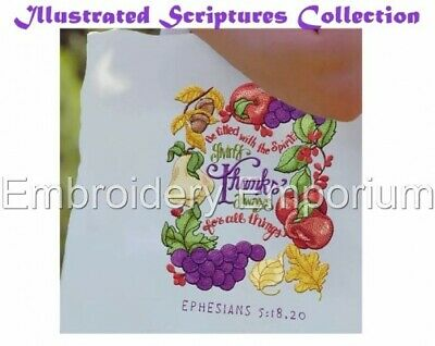 Illustrated Scriptures Collection - Machine Embroidery Designs On Cd Or Usb