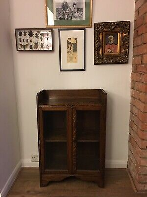 Edwardian Antique Oak lawyer/Barrister Bookcase/Display Cabinet