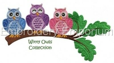 Witty Owls Collection - Machine Embroidery Designs On Cd Or Usb
