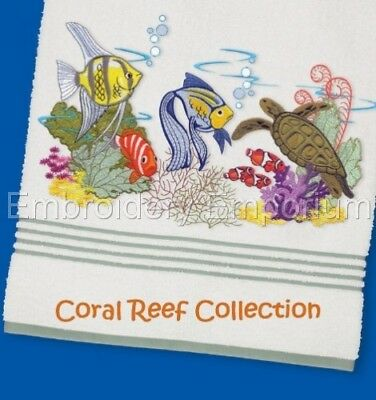 Coral Reef Collection - Machine Embroidery Designs On Cd Or Usb
