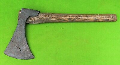 """Antique Hand Forged Hatchet With Set Back Head and Odd Socket 5 1/2"""" By 8 1/2"""""""