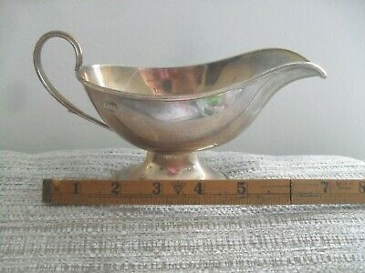 Quality Antique Solid Silver Gravy Jug Sauce Boat 1905 197 grams