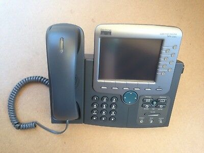 LOT OF 2 Cisco CP-7970G -SIP VoIP PoE Color LCD Touch Screen