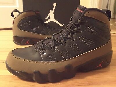 new product 01a48 07eae DS NEW Nike Air Jordan 9 Retro Olive 302370-020 Brown Black Red Spacejam IX