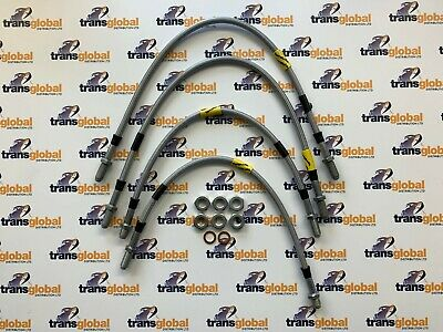 "+2/"" Extended Brake Hose Kit for Land Rover Defender NON ABS 2004 on Goodridge"