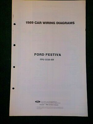 1989 ford festiva electrical schematic wiring diagram manual
