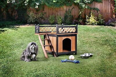 Cresbard Oak And Black Pet House By Furniture Of America Cm-Ph318 25 Pounds