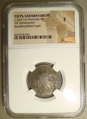 2nd-1st Cent. BC Celts Imitating Philip II Ancient Greek Silver Tetradrachm NGC