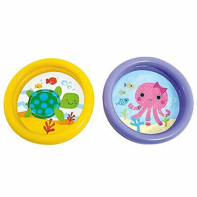 Baby Toddler Paddling Pool 2 Ring Small 61cm Child Mini Inflatable Kid
