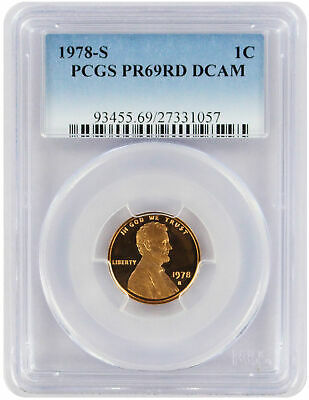 1978-S Lincoln Cent PR69RD DCAM PCGS Proof 69 Red Deep Cameo