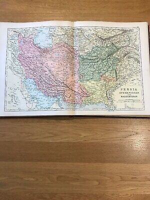 1897, Map of PERSIA & AFGHANISTAN, Bacon's Popular Atlas Of The World