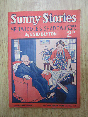 ENID BLYTON SUNNY STORIES MAGAZINE OCTOBER 14th 1949 Mr Twiddle's Shadow No. 467