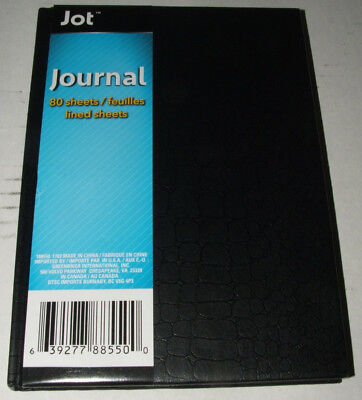Jot Journal Black Hard Cover 80 Lined Pages