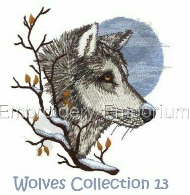 Wolves Collection 13 - Machine Embroidery Designs On Cd Or Usb