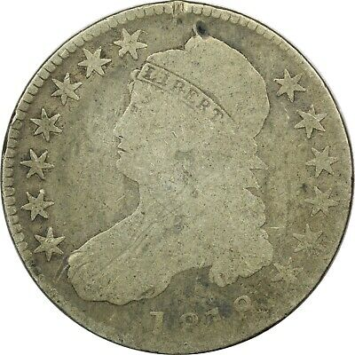 1818 Capped Bust Half Dollar 50C, About Good AG. Minor Damage