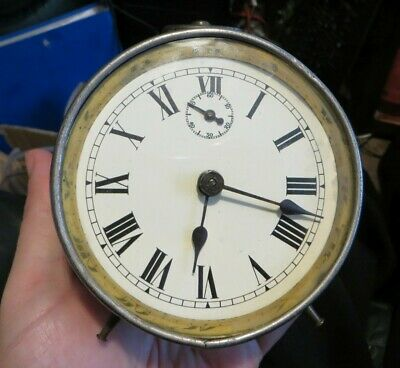 30 hour metal drum clock, 1900s