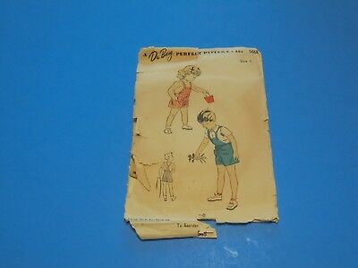 562d1090ea7 Vintage 1940s Sewing Pattern Toddlers Playsuit   Blouse Size 3 DuBarry 5668
