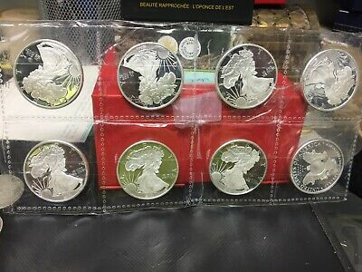 8 - Sunshine Mint 1oz Liberty Silver Round .999 Fine Silver Coins 8 oz total