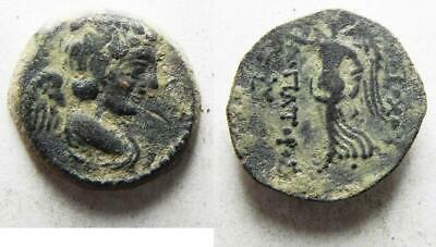 ZURQIEH -as11523- SELEUKID KINGS, Antiochos IX Eusebes. AE 18. 111-110 BC. Eros