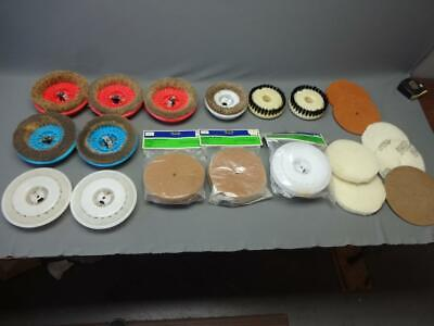 Vintage Floor Scrubbing Buff Polish Cleaning Wheels Big Mixed Lot Pads Kenmore