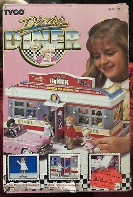 DIXIE'S DINER TYCO PLAYSET NRFB w/ DOLL, COUNTER, STOOLS, STAND SEALED BOX NICE!