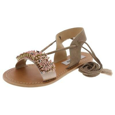 B,M Steve Madden Womens Blink Pink Flat Sandals Shoes 6 Medium BHFO 9096
