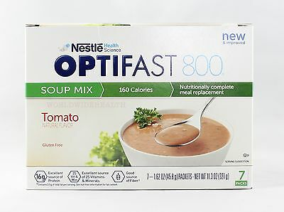 NEW FORMULA | OPTIFAST® 800 MEAL REPLACEMENT SOUP | Tomato Soup | 1 Box